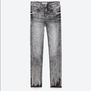 Zara Woman Acid Wash 80's Skinny Jeans